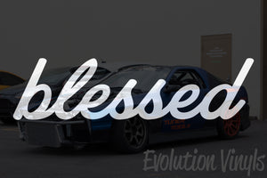 Blessed V1 Decal