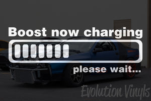 Boost now Charging V1 Decal