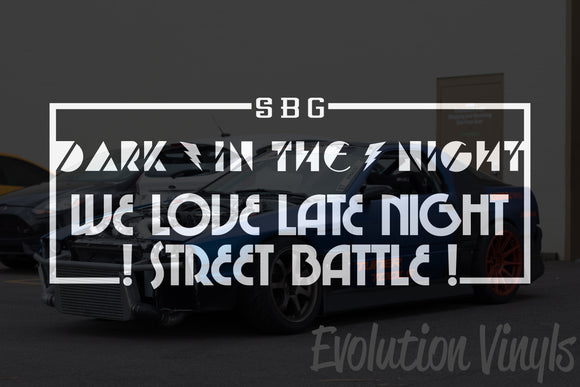 Dark in the Night V1 Decal
