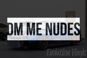 DM ME NUDES V1 Decal