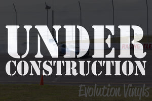 Under Construction V1 Decal