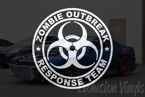 Zombie Outbreak Response Team V1 Decal
