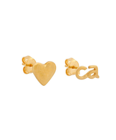 Heart CA Earrings