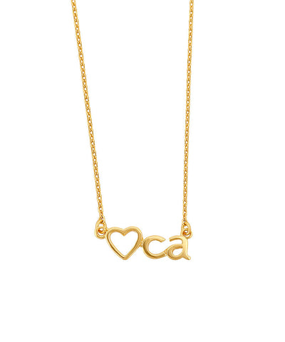 Heart CA Necklace