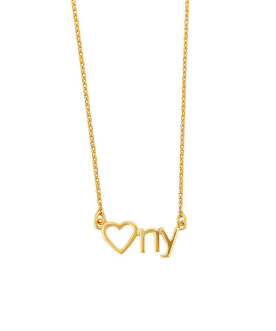 Heart NY Necklace
