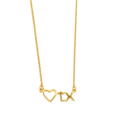 Heart TX Necklace