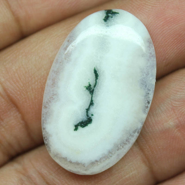 25.55ct, 31x19x5.5mm, SOLAR QUARTZ 100% Natural Loose Cabochon Gemstone - Jewels Exports