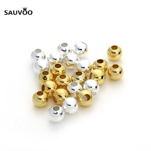 100 Copper Round Ball Spacer Beads Charm
