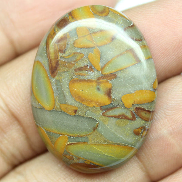 44.25ct, 33x25x6.5mm, Fruit Jasper 100% Natural Loose Cabochon Gemstone - Jewels Exports