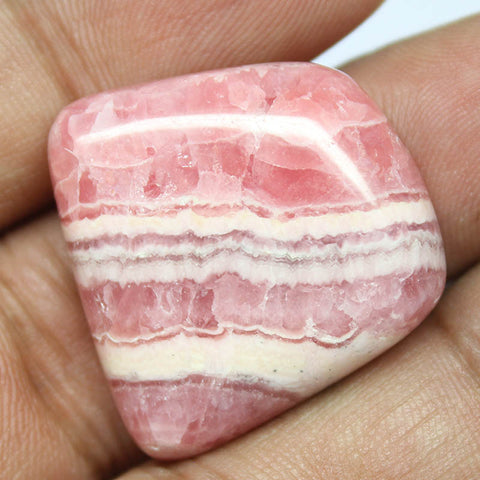 54.9ct, 26x25x7mm, Rhodochrosite  100% Natural Loose Cabchon Gemstone - Jewels Exports