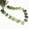 Green Jasper 3d Box Geometry Beads Strand - 8 inches - 15mm - 16mm - Jewels Exports - 2