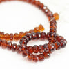Brandy Citrine Faceted Rondelle Beads Strand - 8 inches - 5mm - 6mm - Jewels Exports - 4