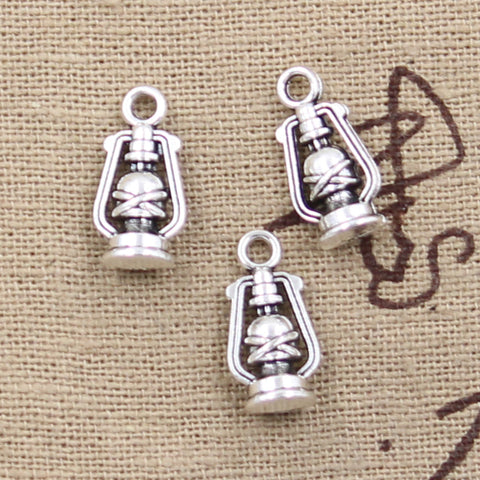 10 Oil Lamp Charm Pendant 16mm x 8mm x 6mm - Jewels Exports