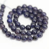 Water Sapphire Iolite Smooth Round Ball Beads Strand - 13 Inch - 6mm - Jewels Exports - 2
