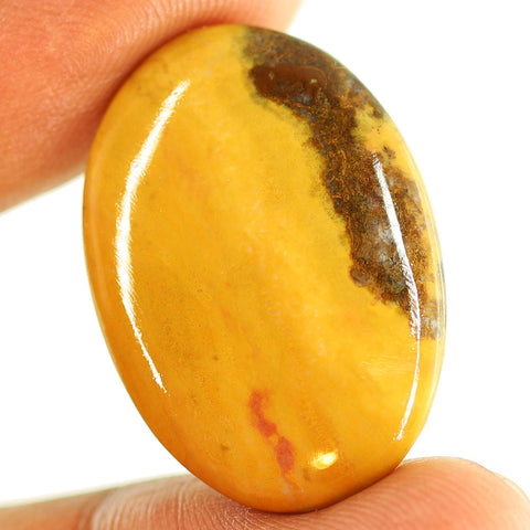 23.45 ct. 31 x 21 x 4.5mm Loose Oval Cabochon Mookaite Jasper Gemstone
