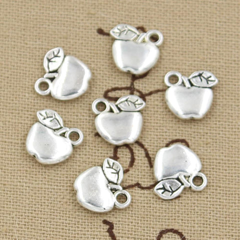 12 Apple Charm Pendant 10mm x 10mm Ant