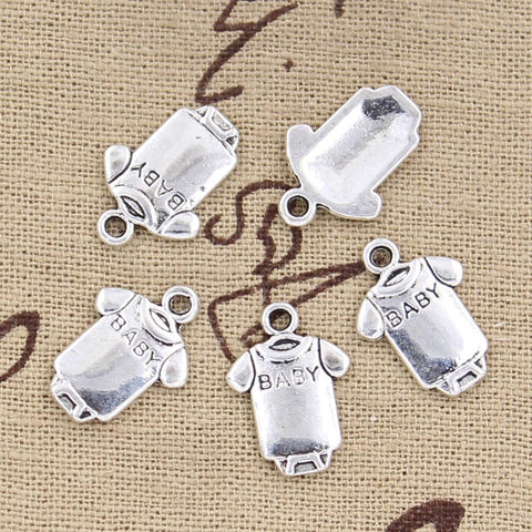 12 Babe Cloth Onesie Charm Pendant 17mm x 12mm - Jewels Exports