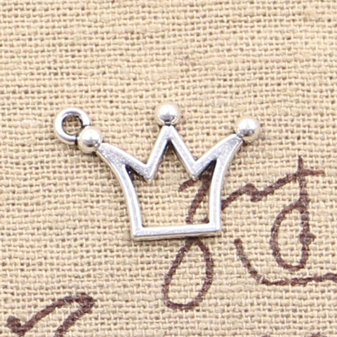 12 Crown Charm Pendant 20mm x 13mm - Jewels Exports