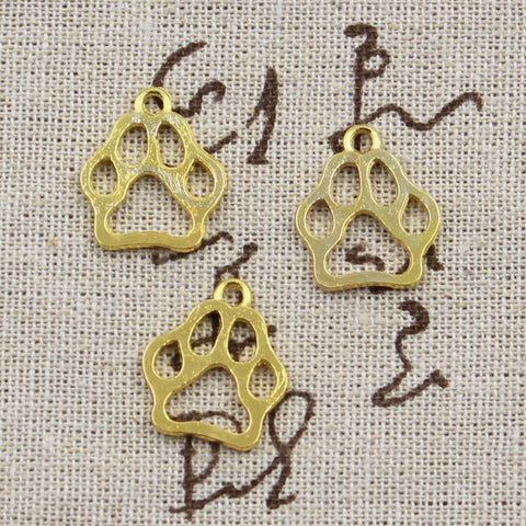 12 Dog Bear Paw Charm Pendant 19mm x 17mm - Jewels Exports