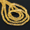 Golden Citrine Smooth Polished Wheel Heishi Beads - 14 inches - 4mm - Jewels Exports - 2