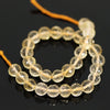 Yellow Citrine Faceted Round Cut Loose Beads Strand - 4 inches - 6mm - Jewels Exports - 1