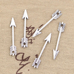 15 Arrow Charm Pendant 30mm,DIY bracelet necklace - Jewels Exports