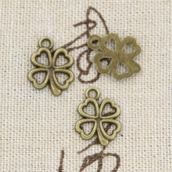15pcs Charms luck irish four leaf clover 17*14mm Antique Making pendant fit,Vintage Tibetan Silver,DIY bracelet necklace - Jewels Exports