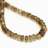 Smoky Quartz Faceted Rondelle Loose Beads - 8 inches - 6mm - 9mm - Jewels Exports - 3