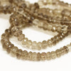 Smoky Quartz Faceted Rondelle Loose Beads - 8 inches - 6mm - 9mm - Jewels Exports - 2