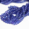 Tanzanite AAA Royal Colour Smooth Rondelle Loose Beads - 18 inches - 3mm - 7mm - Jewels Exports - 2