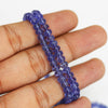 Tanzanite AAA Royal Colour Smooth Rondelle Loose Beads - 18 inches - 3mm - 7mm - Jewels Exports - 4
