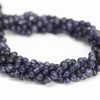 Water Sapphire Iolite Smooth Round Ball Beads Strand - 13 Inch - 4mm - Jewels Exports - 2