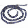 Water Sapphire Iolite Faceted Rondelle Beads Strand - 13 Inch - 3mm - 3.5mm - Jewels Exports - 2