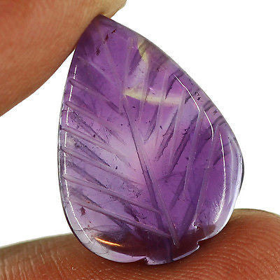 11.5ct Natural Purple Amethyst Carving Loose Gemstone Pear Aaa Cabochon - Jewels Exports