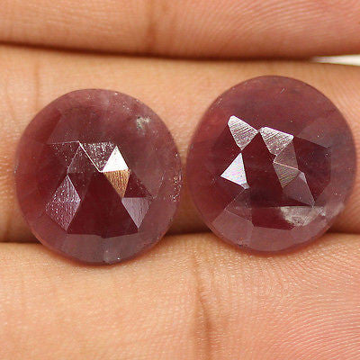 21.5ct Natural Pink Sapphire Rose Cut Untreated Designer Matching Pair - Jewels Exports