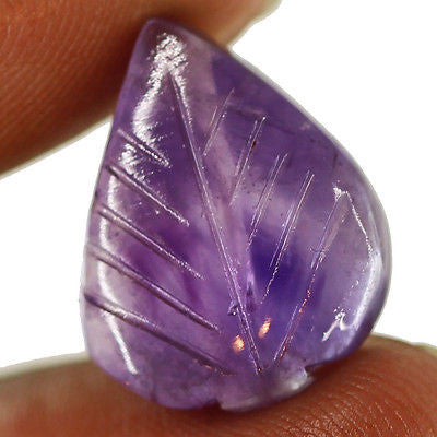 15ct Natural Purple Amethyst Carving Loose Gemstone Pear Stunning Cabochon - Jewels Exports