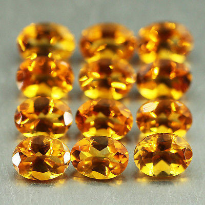 13.46ct Brandy Citrine Oval 12pc Loose Gemstone Wholesale Lot Stunning Luster - Jewels Exports