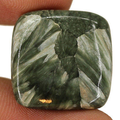 19.25cts Natural Black Seraphinite Cabochon Loose Gemstone Super Fine - Jewels Exports