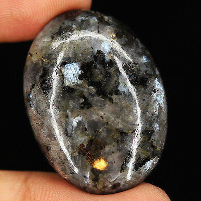 48.65cts Natural Sparkling Larvikite Cabochon Loose Gemstone Wonderful - Jewels Exports