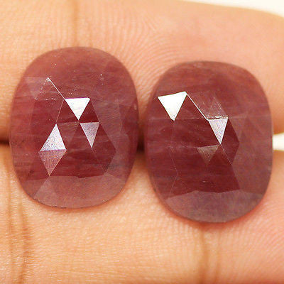 21ct Natural Pink Sapphire Untreated Rose Cut Aaa Matching Pair - Jewels Exports