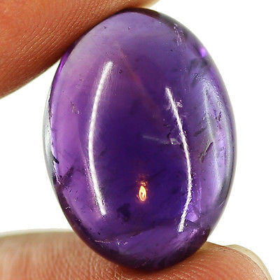 28.05ct Natural Purple Amethyst Loose Gemstone Oval Amazing Cabochon - Jewels Exports