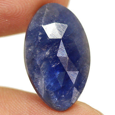 7ct Natural Blue Sapphire Rose Cut Pendant Size Matching Pair - Jewels Exports