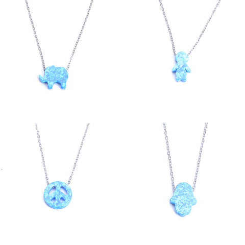 Blue Opal Spacer Beads Charms Pendant - Jewelry Making - Jewels Exports