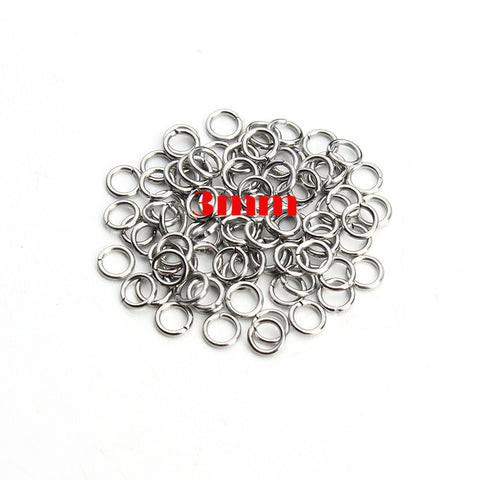 200 Stainless Steel Jump Rings Cut Open Findings