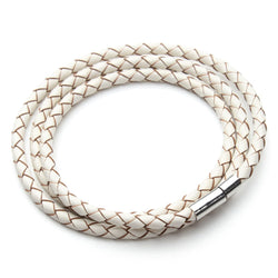 Braided Leather Bracelet with Magnetic Clasp - Jewelry Making - Jewels Exports