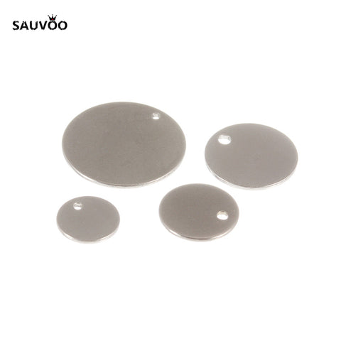 20 Stainless Steel Round Coin Blank Pendant Tags for Stamping