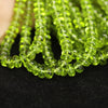 AAA Quanltiy Arizona Peridot Smooth Rondelle Beads - 13 Strands - 7 Inch Each - 5mm to 7 mm - Jewels Exports - 3