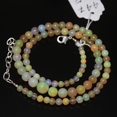 Fire Ethiopian Opal Smooth Round Beads