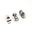 50 Earring Backs Stopper Plug 6.5mm x 4.5mm