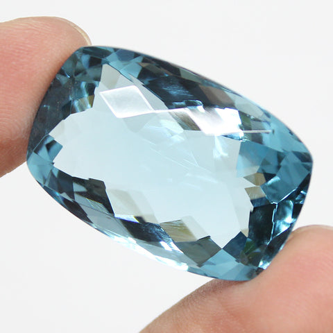 London Blue Topaz Rectangle Cabochon, 30x19x14mm, 53.30ct, SKU8686 - Jewels Exports
